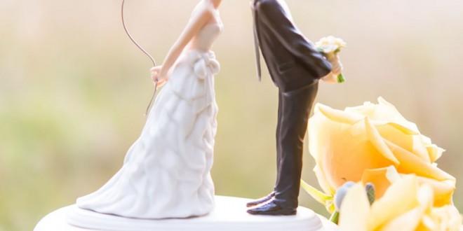 کیک عروسی با خمیر فوندانت