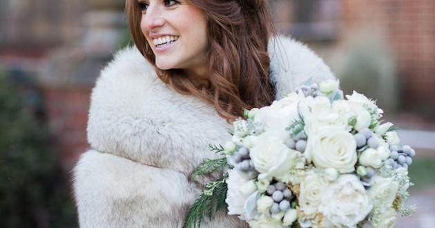 مدل دسته گل عروس, دسته گل زمستانی عروس