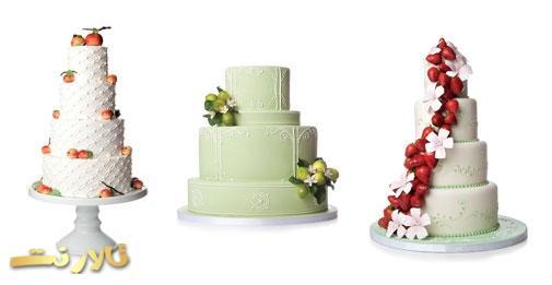 کیک عروسی میوه تازه, مدل کیک عروسی