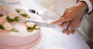 کیک عروسی چاقو عروس داماد