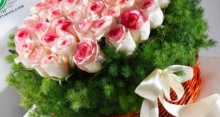 دسته گل خواستگاری, سبد گل خواستگاری صورتی
