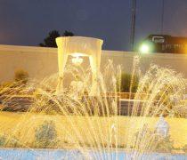 فضای باز باغ تالار عقیق احمد آباد مستوفی