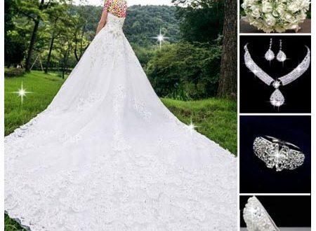 ست لباس و کفش عروس