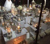 شمع آرایی باغ عروسی کلاسیک
