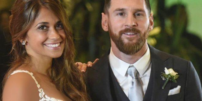 غکس عروسی مسی و همسرش آنتونلا